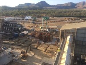 On Track: Construction of the $75 million Green Power Plant at Tableland Mill is progressing well. Work on the major component, the boiler, will start soon.