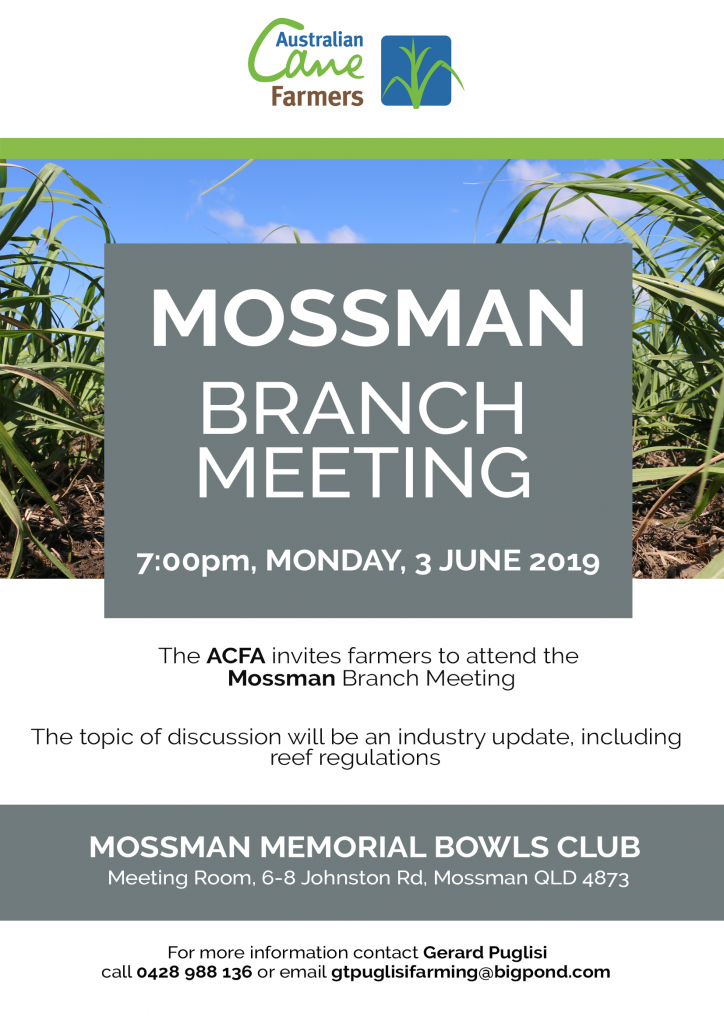 190603 – Mossman Branch Meeting Notice